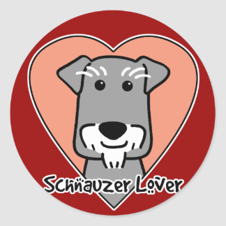 Miniature Schauzer Lover Classic Round Sticker