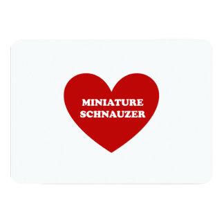 Miniature Schnauzer 5x7 Paper Invitation Card