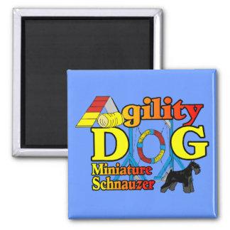 Miniature_Schnauzer_Agility Refrigerator Magnet