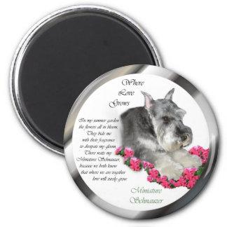 Miniature Schnauzer Art Gifts 2 Inch Round Magnet