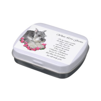 Miniature Schnauzer Art Gifts Jelly Belly Candy Tins