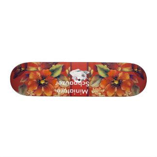 Miniature Schnauzer - Autumn Floral Design Skate Deck