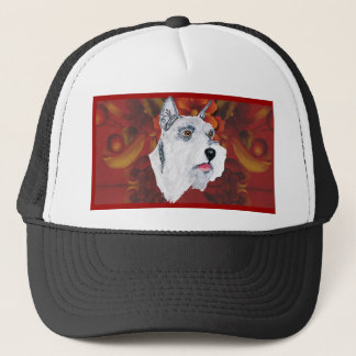 Miniature Schnauzer - Autumn Floral Design Trucker Hat