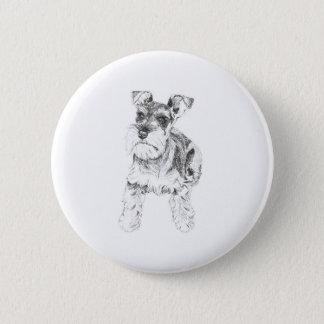 Miniature Schnauzer Badge Button