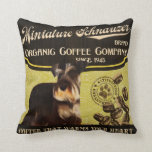 Miniature Schnauzer Brand – Organic Coffee Company Pillow
