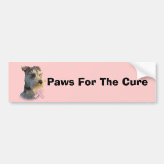Miniature Schnauzer Breast Cancer Bumper Sticker