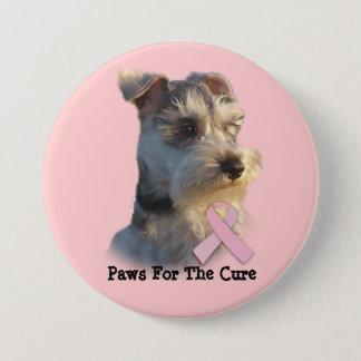 Miniature Schnauzer Breast Cancer Button