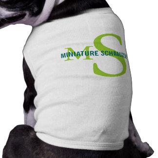 Miniature Schnauzer Breed Monogram Design Shirt