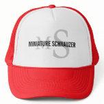 Miniature Schnauzer Breed Monogram Design Trucker Hat