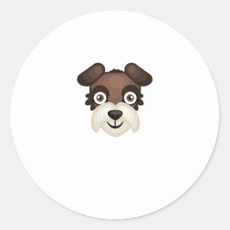 Miniature Schnauzer Breed - My Dog Oasis Classic Round Sticker