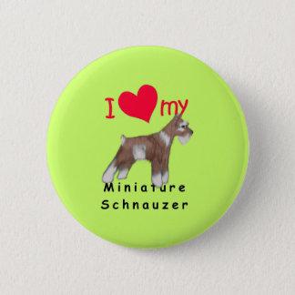 Miniature Schnauzer Button