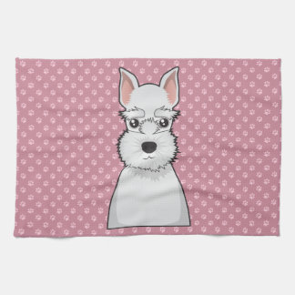Miniature Schnauzer Cartoon Hand Towel