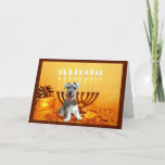 "Miniature Schnauzer Chanukah Card Menorah<br><div class=""desc"">Remembering family and friends during the Chanukah season is a wonderful way to keep in touch with the people you love and care about. I created these dog Chanukah cards with love and care and I am sure anyone who loves dogs will be delighted to receive them. You do have...</div>"