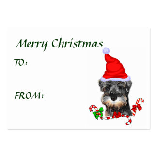 Miniature Schnauzer Christmas Gifts Large Business Cards (Pack Of 100)