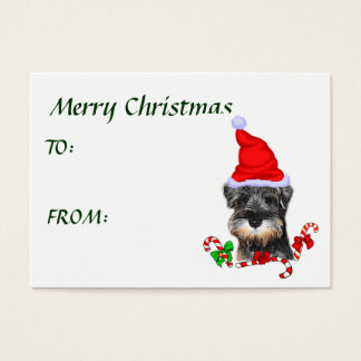 Miniature Schnauzer Christmas Gifts Business Card