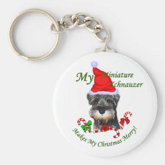 Miniature Schnauzer Christmas Gifts Key Chains