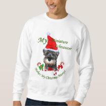 Miniature Schnauzer Christmas Gifts Sweatshirt