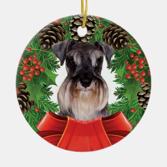 Miniature Schnauzer Christmas Ornament - Miniature Schnauzer Christmas Ornament Zazzle.com