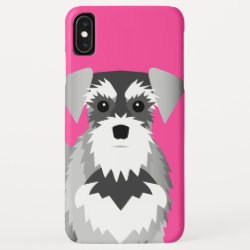 Miniature Schnauzer Custom Background Color iPhone XS Max Case