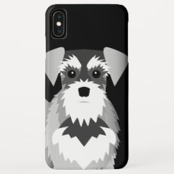 Case-Mate Barely There Apple iPhone XS Max Case with Miniature Schnauzer Phone Cases design
