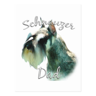 Miniature Schnauzer Dad 2 Postcard