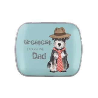 Miniature Schnauzer Dad Candy Tin