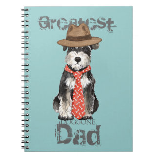 Miniature Schnauzer Dad Spiral Notebook