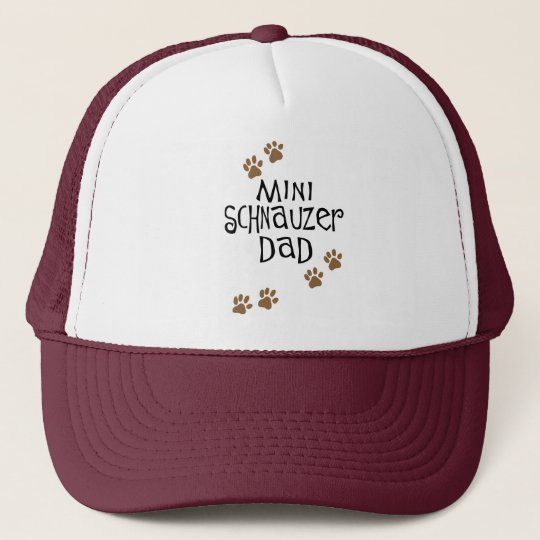 Miniature Schnauzer Dad Trucker Hat