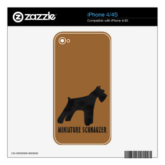 Miniature Schnauzer Decal For The iPhone 4S