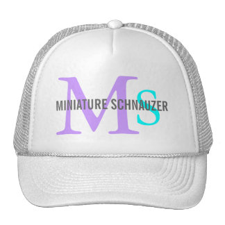 Miniature Schnauzer Dog Breed Trucker Hat/Cap Trucker Hat
