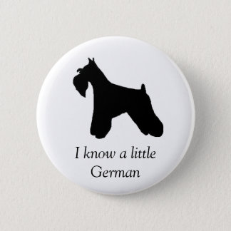 Miniature Schnauzer Dog Button