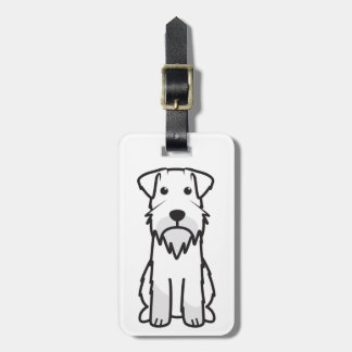 Miniature Schnauzer Dog Cartoon Bag Tag