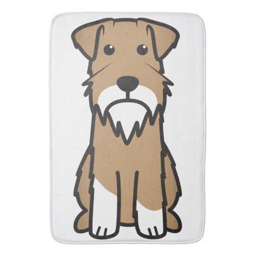 Miniature Schnauzer Dog Cartoon Bath Mat Zazzle