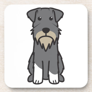 Miniature Schnauzer Dog Cartoon Beverage Coaster