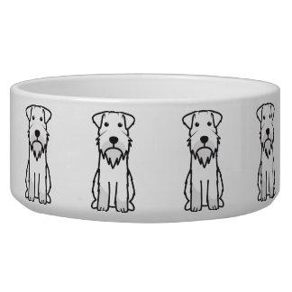 Miniature Schnauzer Dog Cartoon Bowl