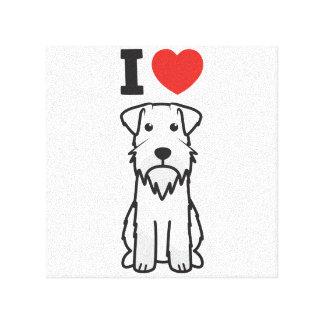 Miniature Schnauzer Dog Cartoon Canvas Print