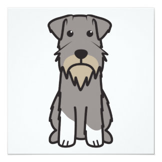Miniature Schnauzer Dog Cartoon Card