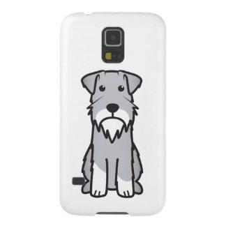 Miniature Schnauzer Dog Cartoon Galaxy S5 Covers