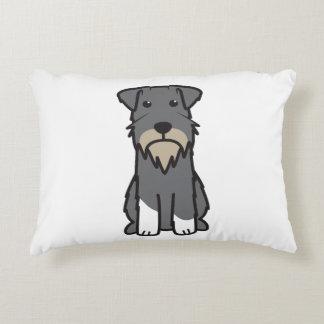 Miniature Schnauzer Dog Cartoon Decorative Pillow
