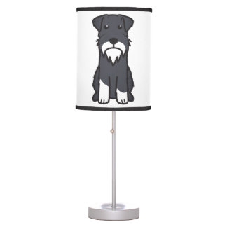 Miniature Schnauzer Dog Cartoon Desk Lamp