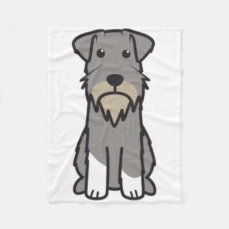 Miniature Schnauzer Dog Cartoon Fleece Blanket