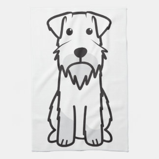 Miniature Schnauzer Dog Cartoon Hand Towel