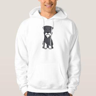 Miniature Schnauzer Dog Cartoon Hoodie