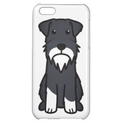 Miniature Schnauzer Dog Cartoon iPhone 5C Cover
