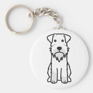 Miniature Schnauzer Dog Cartoon Keychain