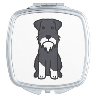 Miniature Schnauzer Dog Cartoon Mirror For Makeup
