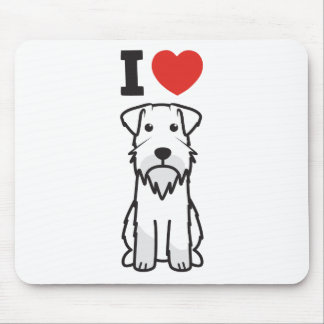 Miniature Schnauzer Dog Cartoon Mouse Pad