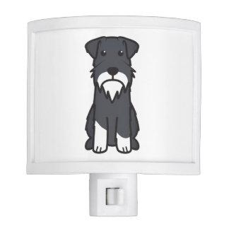 Miniature Schnauzer Dog Cartoon Night Light