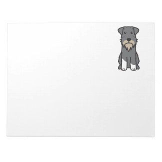 Miniature Schnauzer Dog Cartoon Notepad