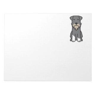 Miniature Schnauzer Dog Cartoon Memo Note Pads